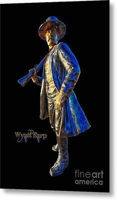 Wyatt Earp Statue Hdr Poster Metal Print by Andreas Hohl