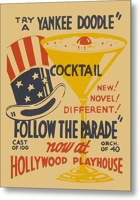 Metal Print featuring the painting Yankee Doodle Cocktail by American Classic Art