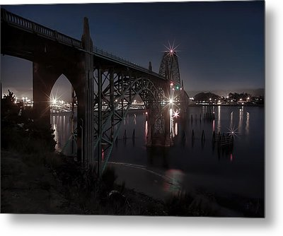 Yaquina Bay Bridge - Newport Oregon Metal Print by Daniel Hagerman
