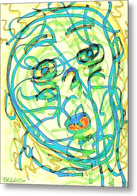 Yelling Metal Print by UrbanHippie BrownieCat