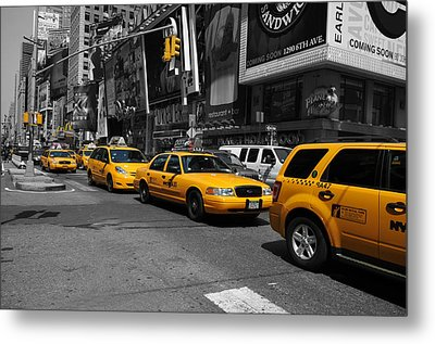 Metal Print featuring the photograph Yellow Cabs by Randi Grace Nilsberg
