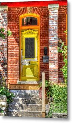 Yellow Door Metal Print by Liane Wright