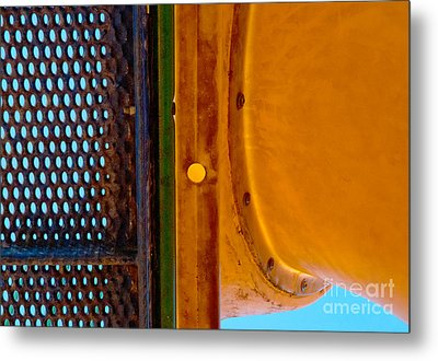 Metal Print featuring the photograph Yellow Dot by Lena Wilhite