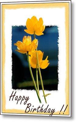 Yellow Flower 1 Metal Print