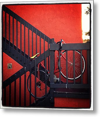 Metal Print featuring the photograph Yellow Seat by Kevin Bergen