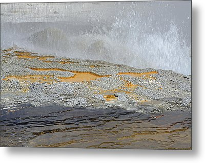 Yellowstone National Park's Jewel Geyser Metal Print by Bruce Gourley