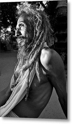 Yogi At Oachira Metal Print by Sonny Marcyan