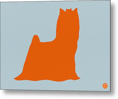 Yorkshire Terrier Orange Metal Print by Naxart Studio