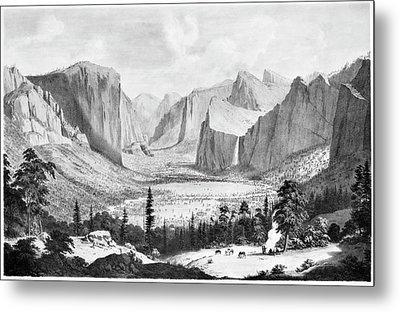 Yosemite Valley, 1855 Metal Print by Granger