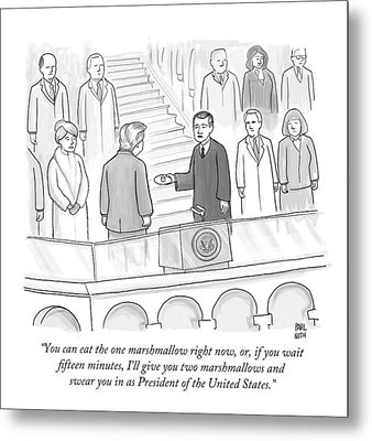 You Can Eat The One Marshmallow Right Now Metal Print by Paul Noth