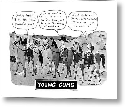 Young Gums Metal Print