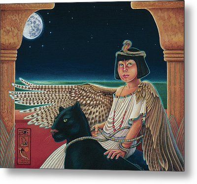 Young Isis Protects The Night Metal Print by Susan Helen Strok