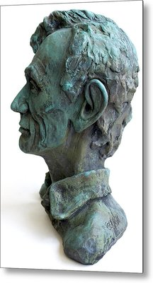 Young Lincoln -sculpture Metal Print by Derrick Higgins