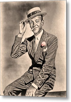 Metal Print featuring the painting Young Mr.astaire by Tyler Robbins