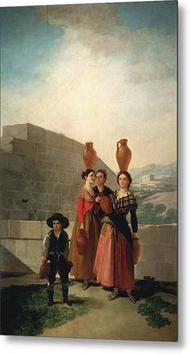 Young Women With Pitchers Metal Print