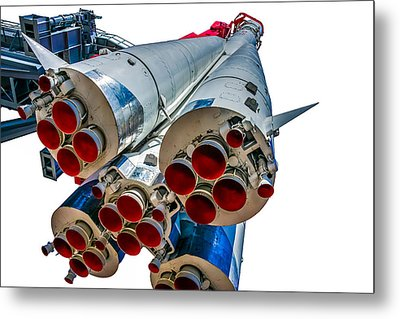 Yuri Gagarin's Spacecraft Vostok-1 - 5 Metal Print by Alexander Senin