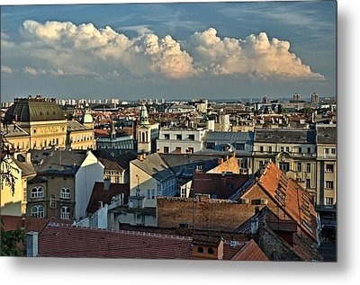 Zagreb Rooftops Metal Print by Steven Richman
