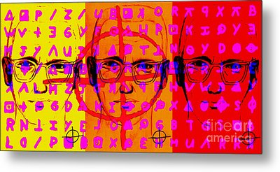 Zodiac Killer Three With Code And Sign 20130213 Metal Print by Wingsdomain Art and Photography