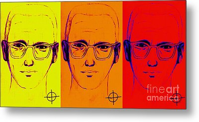 Zodiac Killer Three With Sign 20130213 Metal Print by Wingsdomain Art and Photography