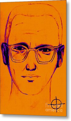 Zodiac Killer With Sign 20130213m98 Metal Print by Wingsdomain Art and Photography