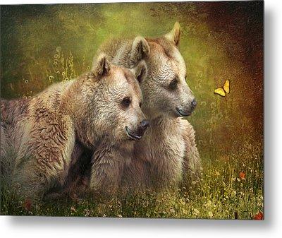 Bear Hugs Metal Print by Trudi Simmonds