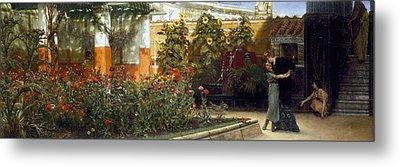 Corner Of A Roman Garden Metal Print by Sir Lawrence Alma-Tadema