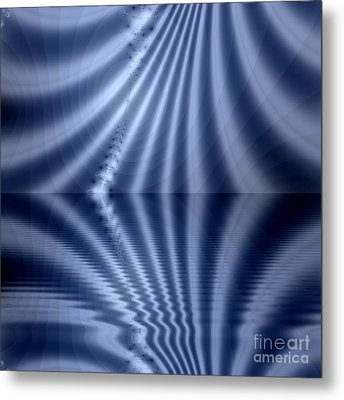 Fractal Reflection Metal Print by Odon Czintos