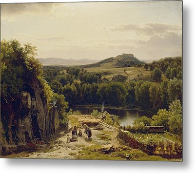 Landscape In The Harz Mountains Metal Print