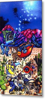 Pacifica In The Desert Metal Print