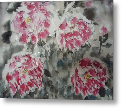 Snow Flower 01 Metal Print by Dongling Sun