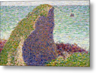 Study For Le Bec Du Hoc Metal Print by Georges Pierre Seurat