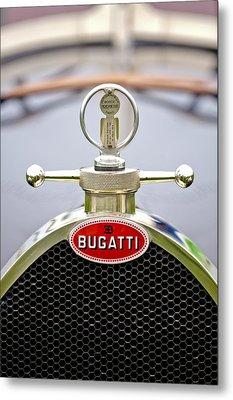 1923 Bugatti Type 23 Brescia Lavocat Et Marsaud Hood Ornament  Metal Print by Jill Reger