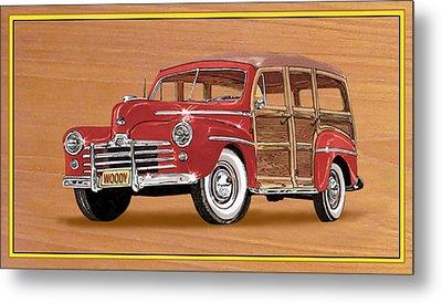 1946 Ford Woody Metal Print by Jack Pumphrey