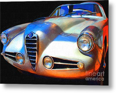 1955 Alfa Romeo 1900 Ss Zagato Metal Print by Wingsdomain Art and Photography