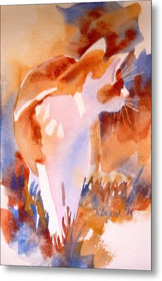2004 Cat On The Prowl  I  Metal Print by Kathy Braud