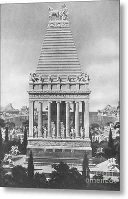 7 Wonders Of The World, Mausoleum Metal Print by Photo Researchers