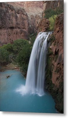 A Blue Waterfall Wets The Arid Metal Print by Taylor S. Kennedy