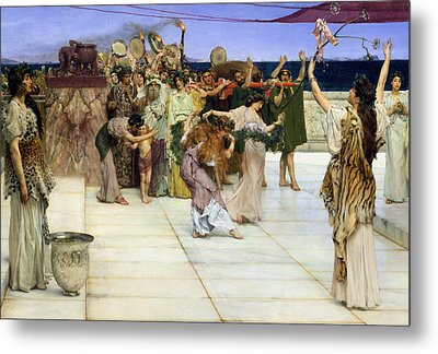 A Dedication To Bacchus Metal Print by Sir Lawrence Alma-Tadema