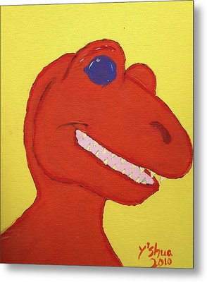 Metal Print featuring the painting A Saurus Wrex by Yshua The Painter