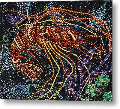 A Shrimp Metal Print by Erika Pochybova