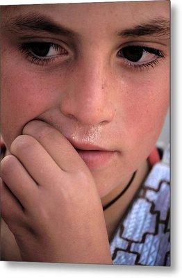 Afghan Child Metal Print