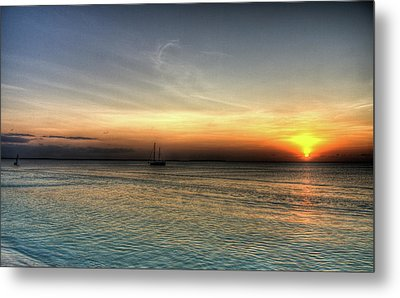 African Sunset Metal Print by Andrea Barbieri