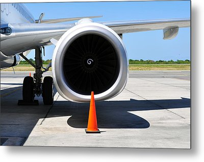 Air Transportation. Jet Engine Detail. Metal Print by Fernando Barozza