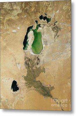 Aral Sea Metal Print by NASA / Science Source