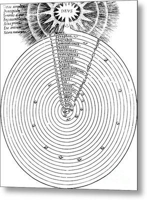 Aristotlelian And Christian Cosmologies Metal Print by Science Source