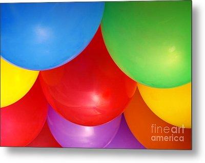 Balloons Background Metal Print by Carlos Caetano
