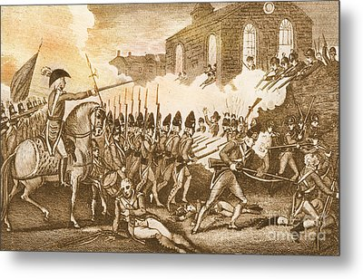 Battle Of Concord, 1775 Metal Print by Photo Researchers