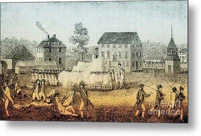 Battle Of Lexington, 1775 Metal Print by Photo Researchers