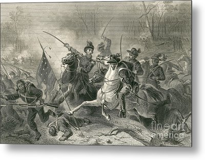 Battle Of Shiloh, Charge Of General Metal Print by Photo Researchers