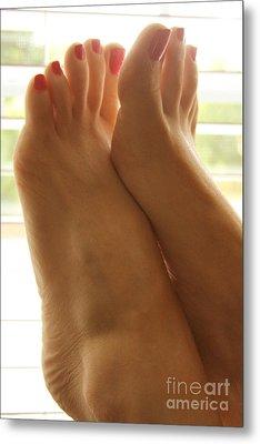 Beautiful Feet Metal Print by Tos Photos